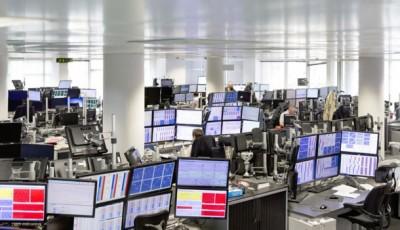 Photos d'une salle des marchés à Londres - Marex Spectron Londres