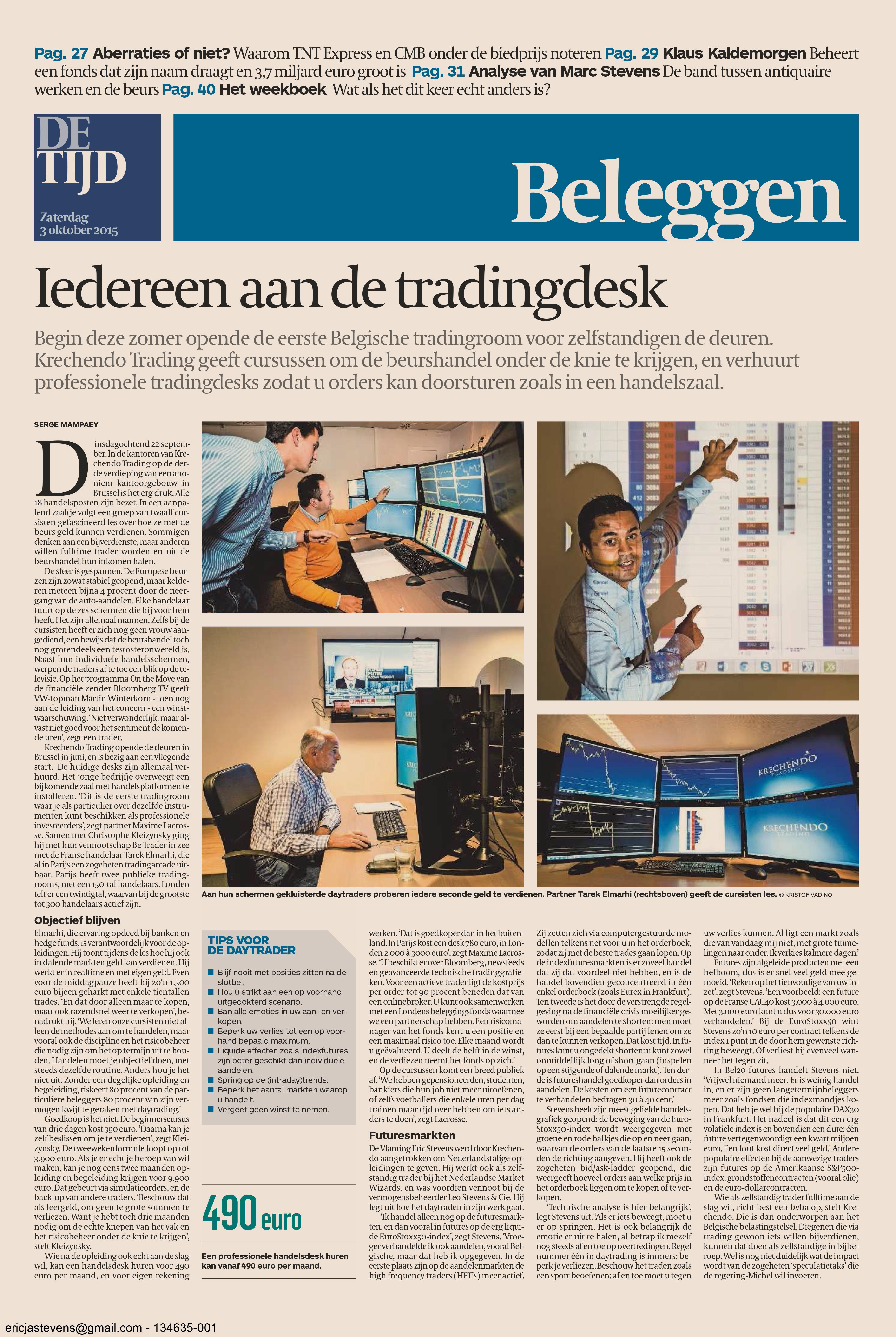 Krechendo Trading - DE TIJD