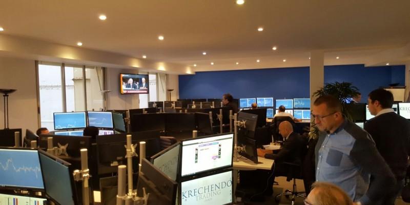 Salle des marchés - Krechendo Trading